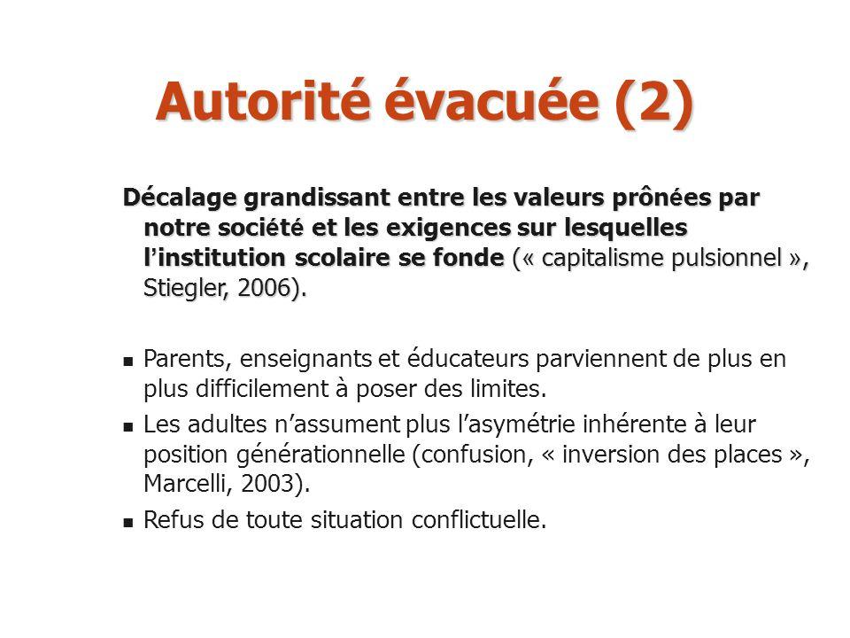 Autorité évacuée (2)