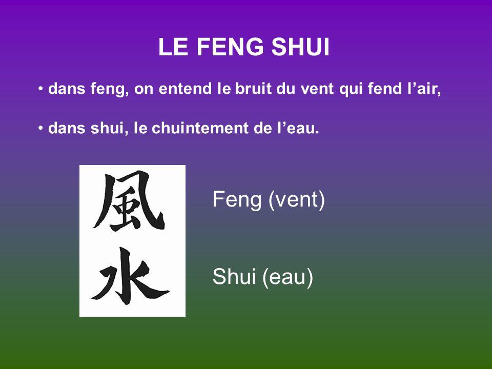 LE FENG SHUI Feng (vent) Shui (eau)