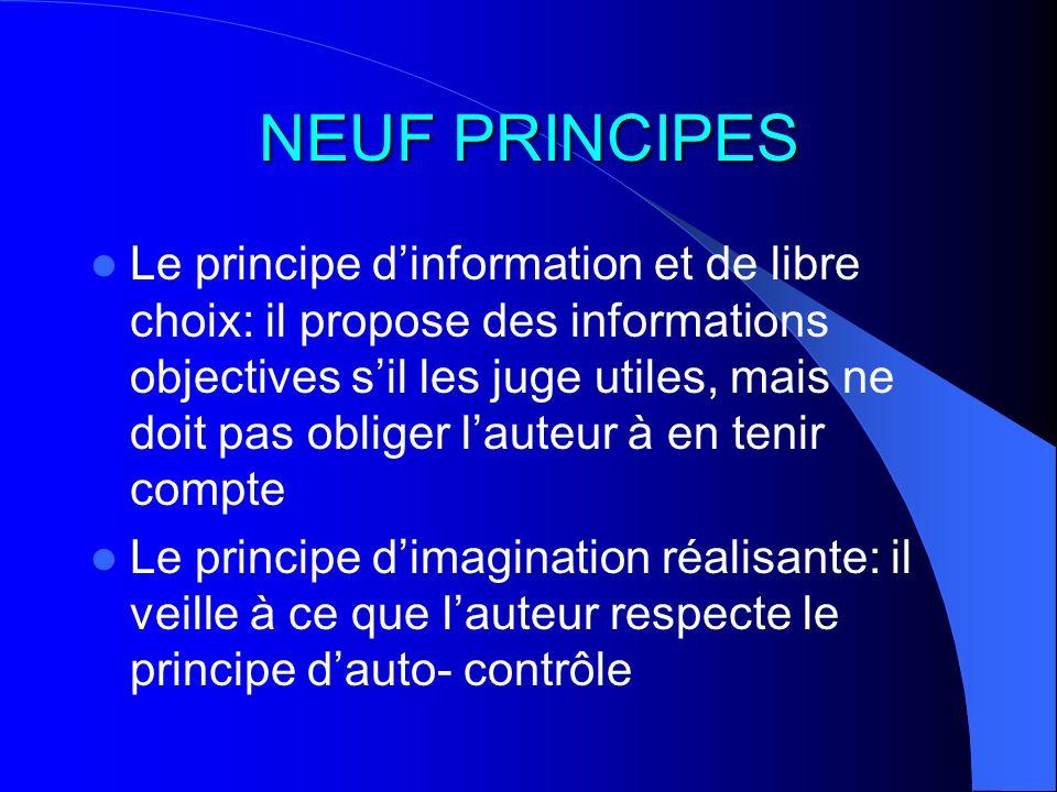 NEUF PRINCIPES