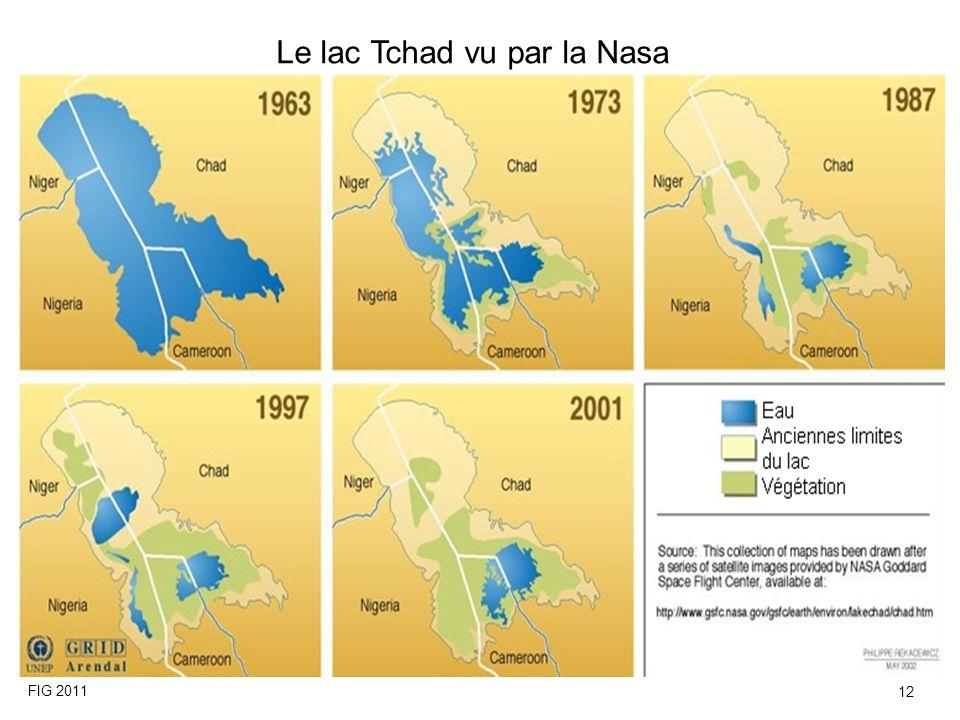 Le lac Tchad vu par la Nasa