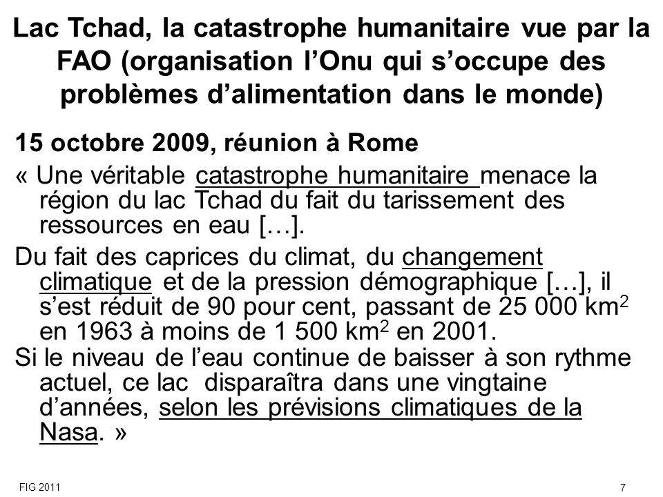 Lac Tchad, la catastrophe humanitaire vue par la FAO (organisation l'Onu qui s'occupe des problèmes d'alimentation dans le monde)