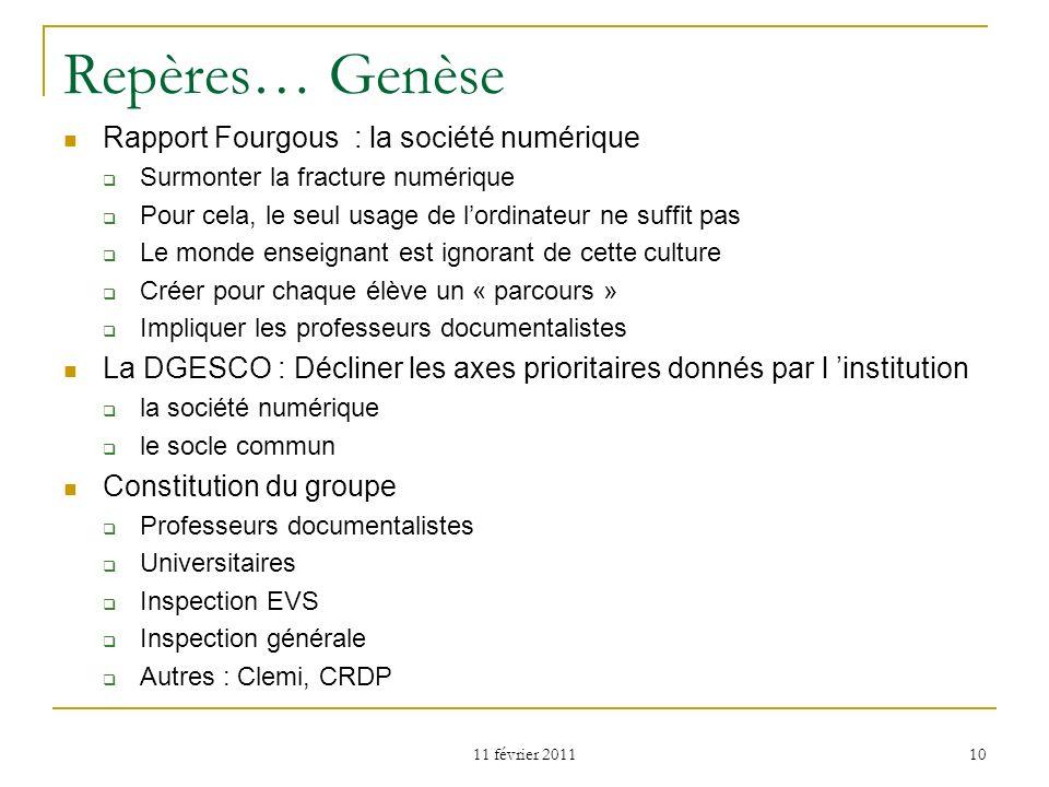 Repères… Genèse Rapport Fourgous : la société numérique