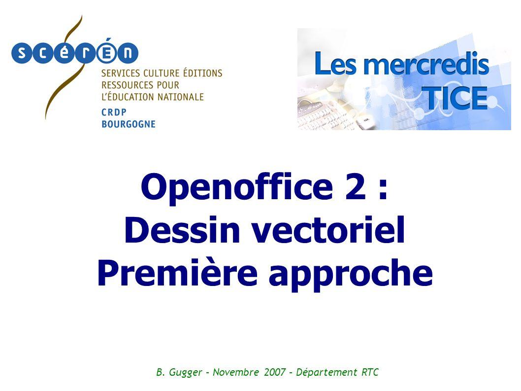 Openoffice 2 : Dessin vectoriel Première approche