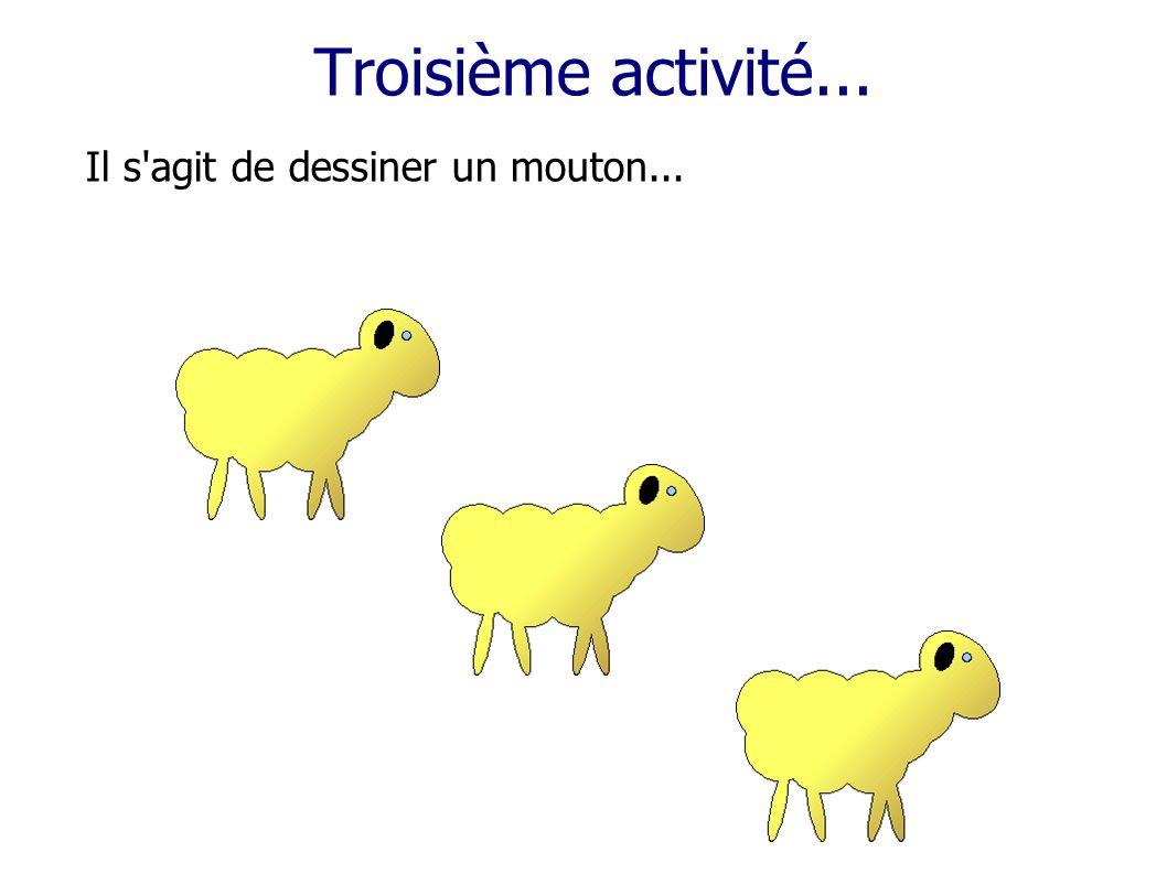 Troisième activité... Il s agit de dessiner un mouton...