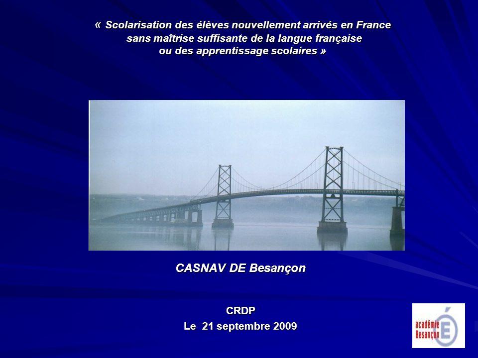 CASNAV DE Besançon CRDP Le 21 septembre 2009