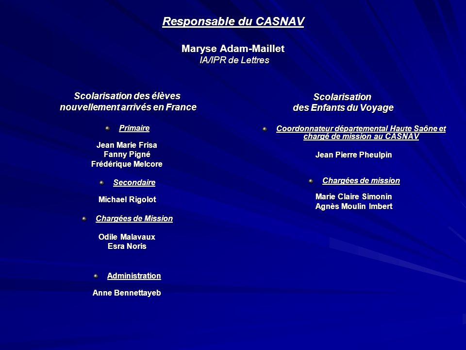 Responsable du CASNAV Maryse Adam-Maillet IA/IPR de Lettres