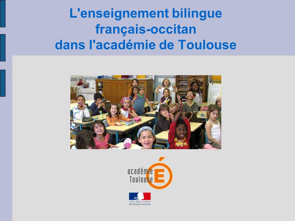 L enseignement bilingue français-occitan dans l académie de Toulouse