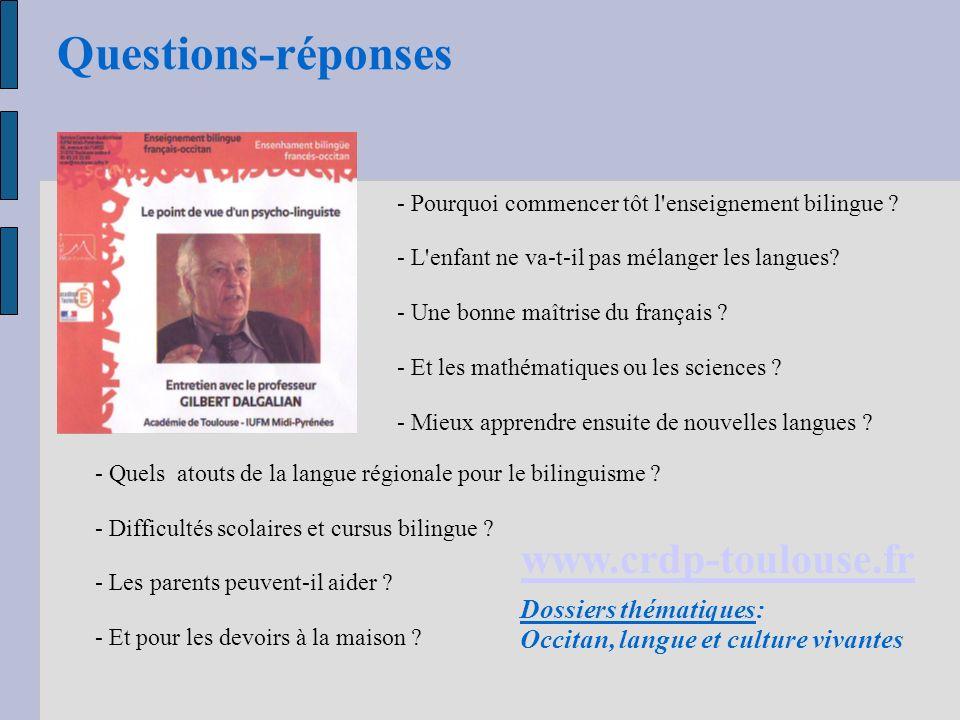 Questions-réponses www.crdp-toulouse.fr Dossiers thématiques: