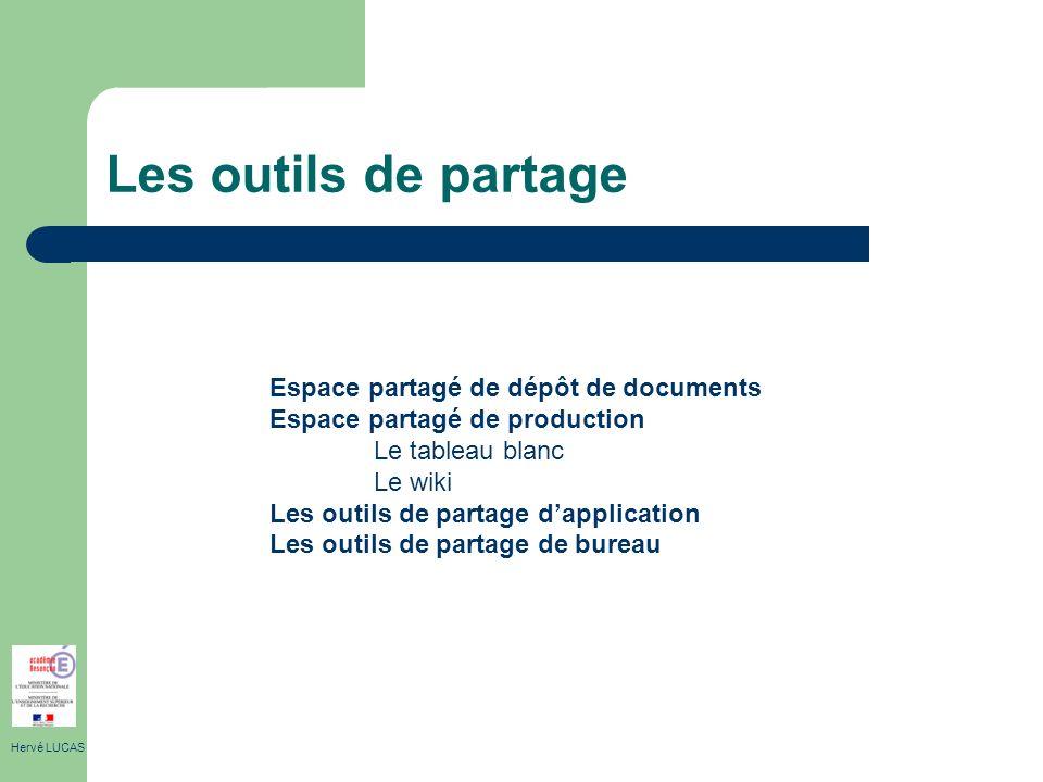 Les outils de partage Espace partagé de dépôt de documents