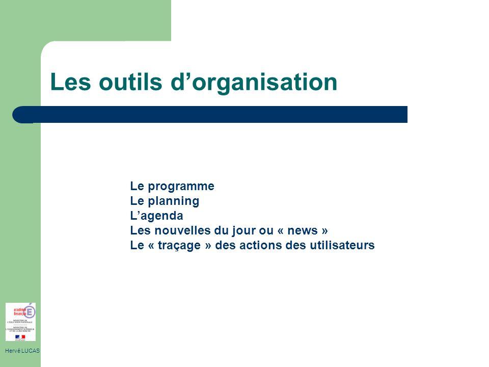 Les outils d'organisation