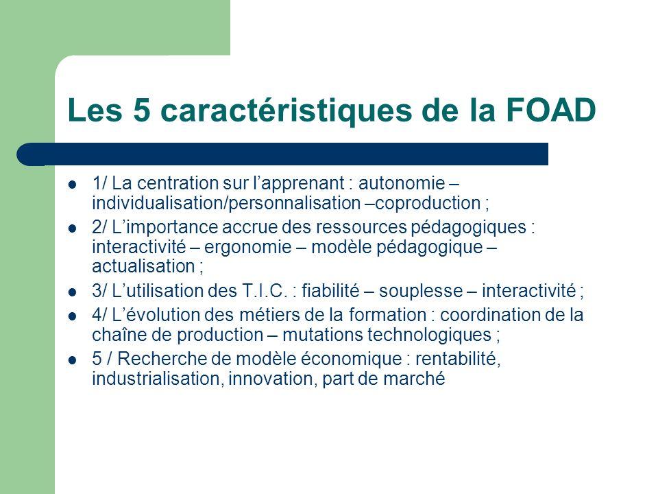 Les 5 caractéristiques de la FOAD