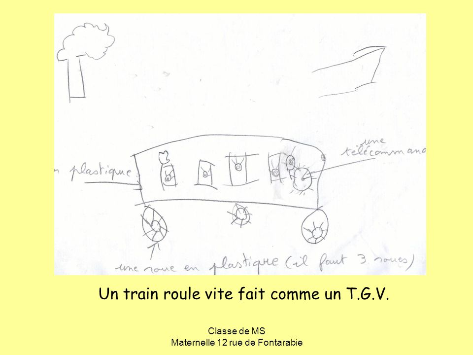 Un train roule vite fait comme un T.G.V.