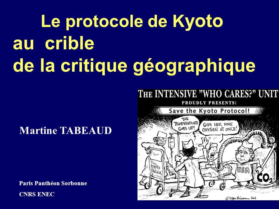 Le protocole de Kyoto au crible de la critique géographique