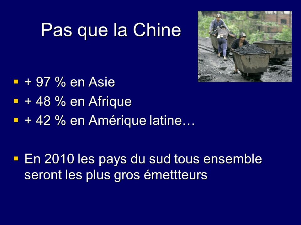 Pas que la Chine + 97 % en Asie + 48 % en Afrique