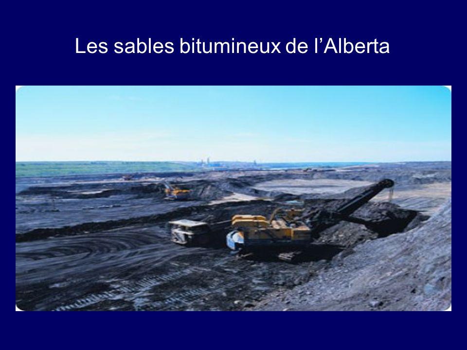 Les sables bitumineux de l'Alberta