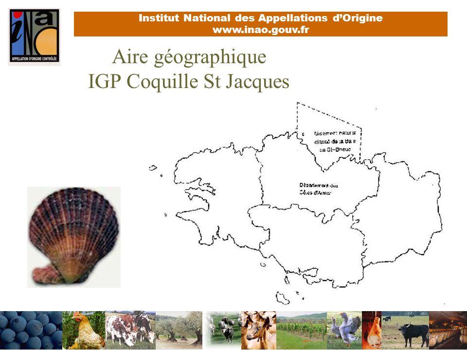 Aire géographique IGP Coquille St Jacques