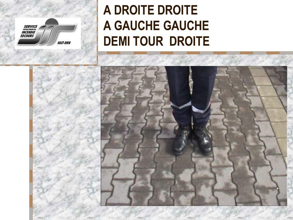 A DROITE DROITE A GAUCHE GAUCHE DEMI TOUR DROITE