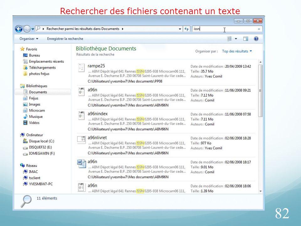Rechercher des fichiers contenant un texte