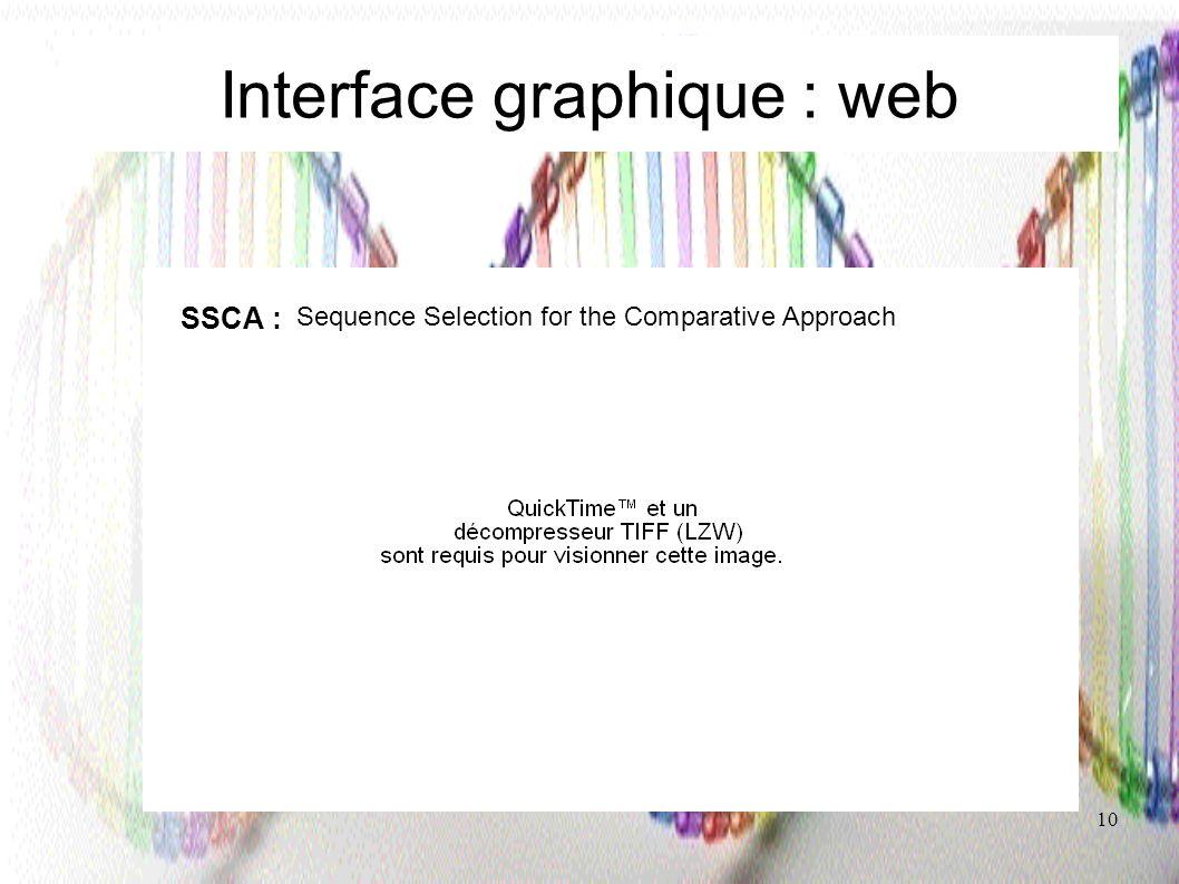 Interface graphique : web