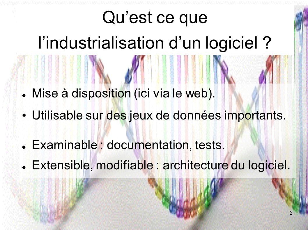 Qu'est ce que l'industrialisation d'un logiciel