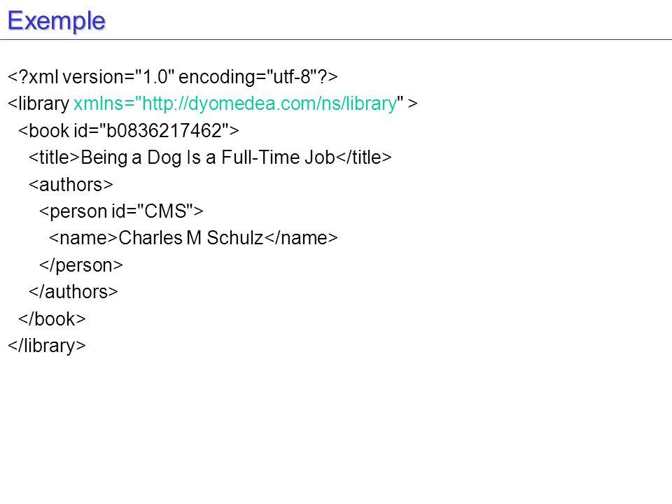 Exemple < xml version= 1.0 encoding= utf-8 >