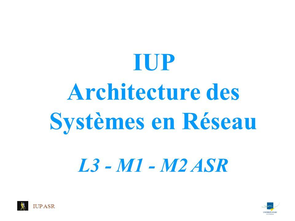 IUP Architecture des Systèmes en Réseau