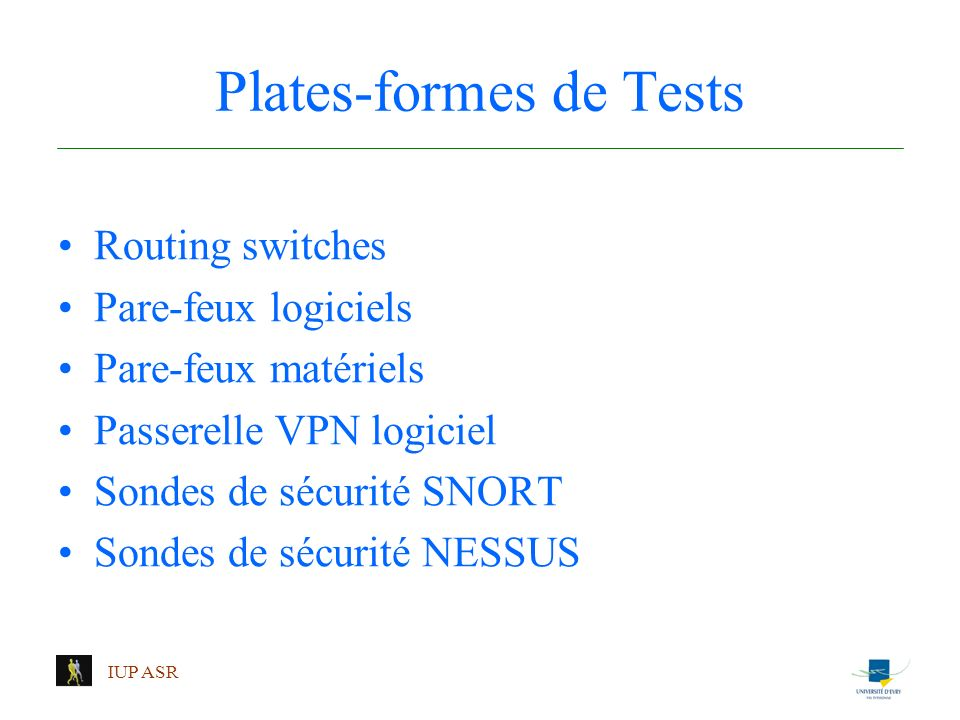 Plates-formes de Tests
