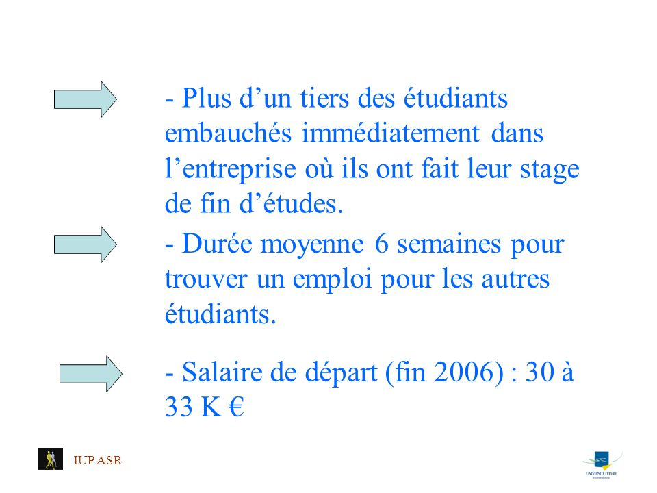 - Salaire de départ (fin 2006) : 30 à 33 K €