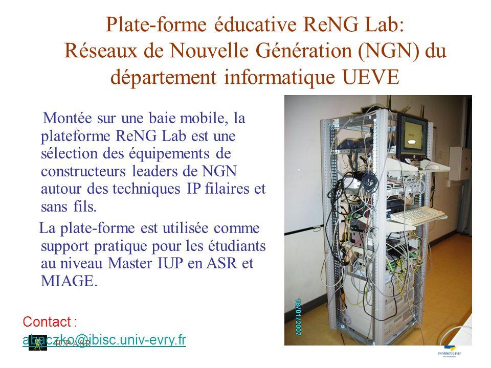 Plate-forme éducative ReNG Lab: Réseaux de Nouvelle Génération (NGN) du département informatique UEVE