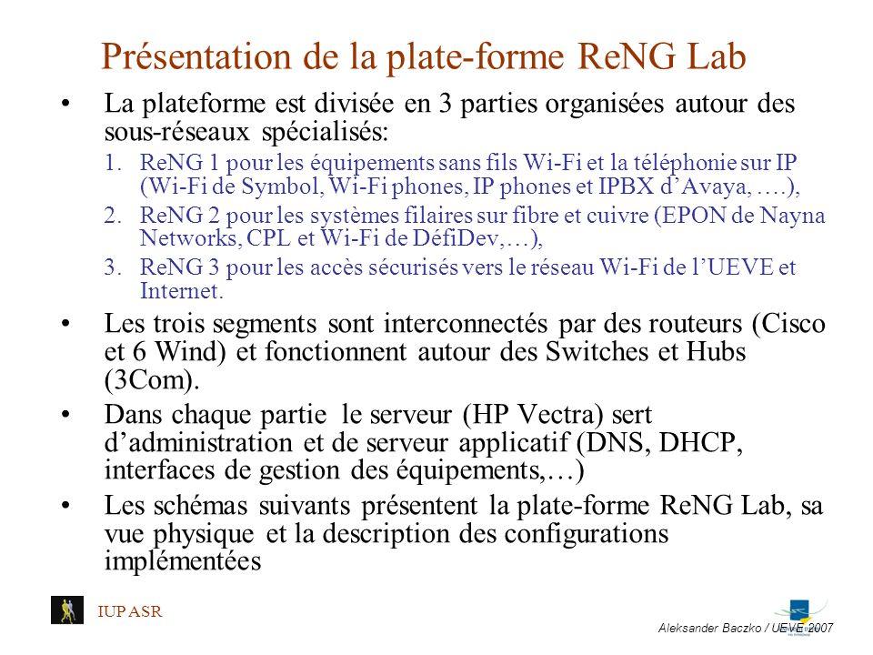Présentation de la plate-forme ReNG Lab