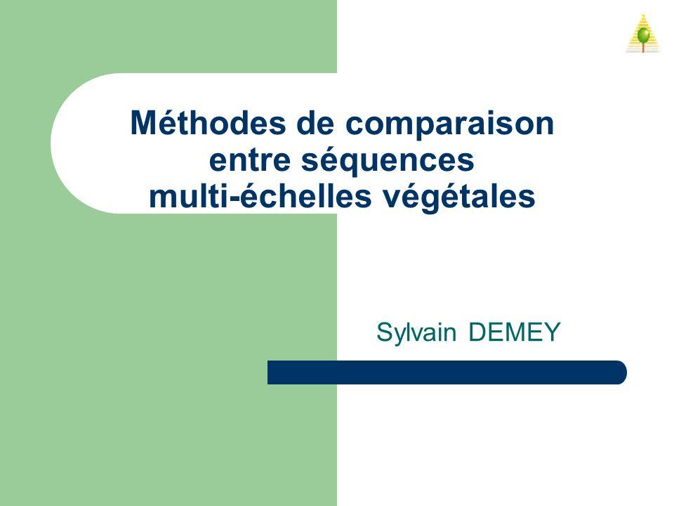 Méthodes de comparaison entre séquences multi-échelles végétales