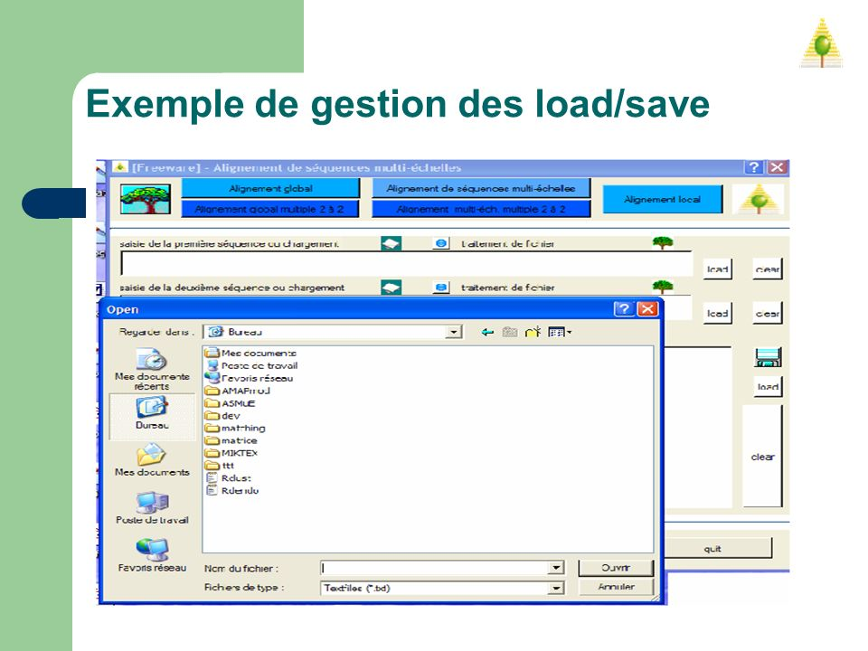 Exemple de gestion des load/save