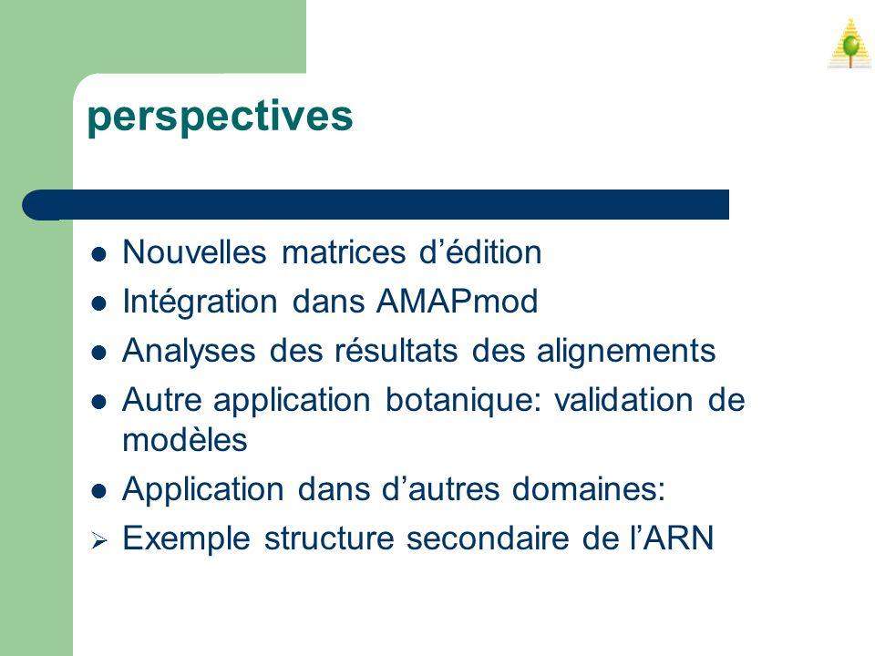 perspectives Nouvelles matrices d'édition Intégration dans AMAPmod