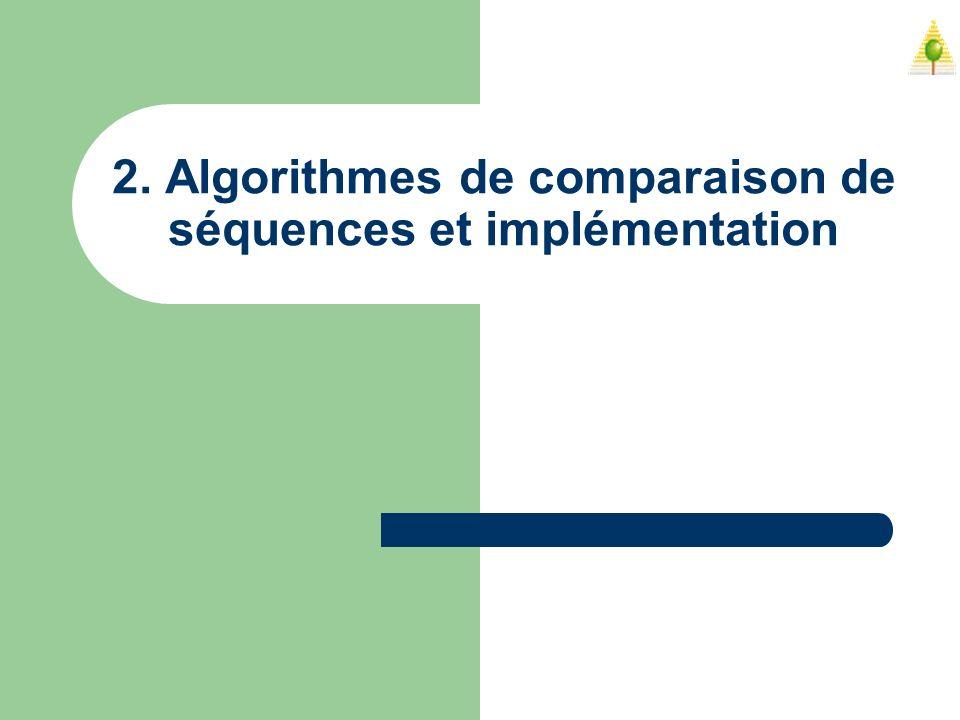 2. Algorithmes de comparaison de séquences et implémentation