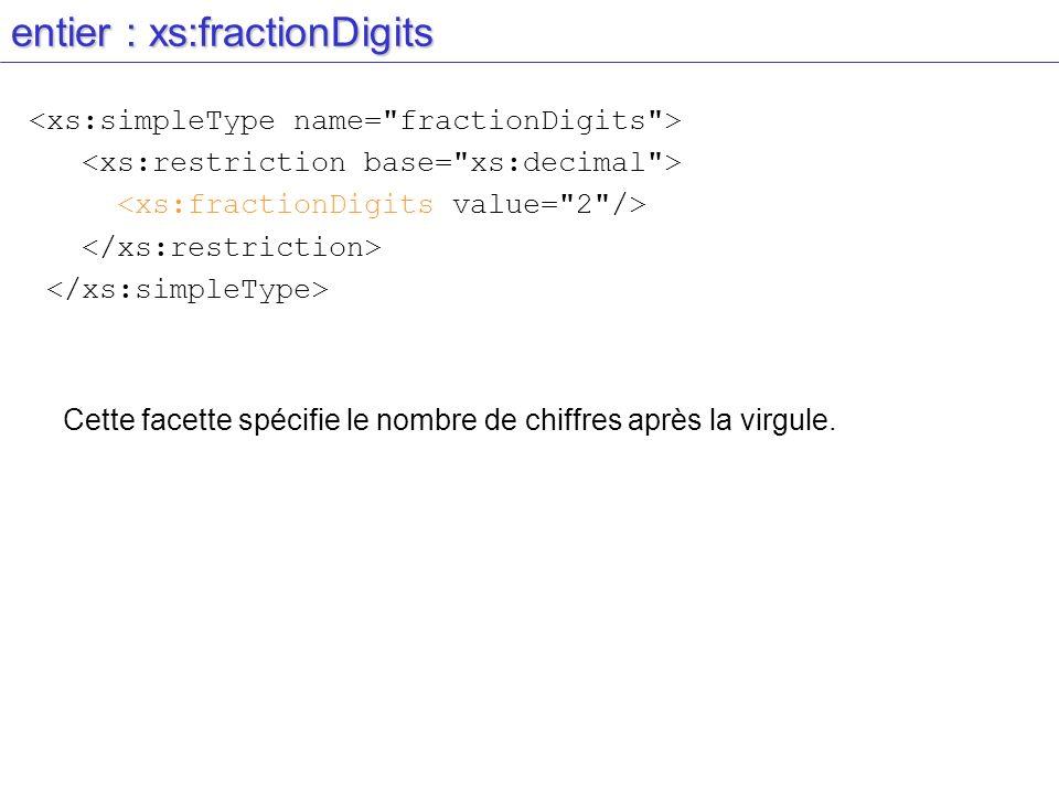 entier : xs:fractionDigits