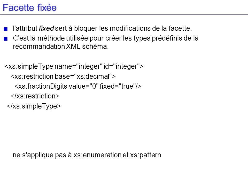 Facette fixéel attribut fixed sert à bloquer les modifications de la facette.