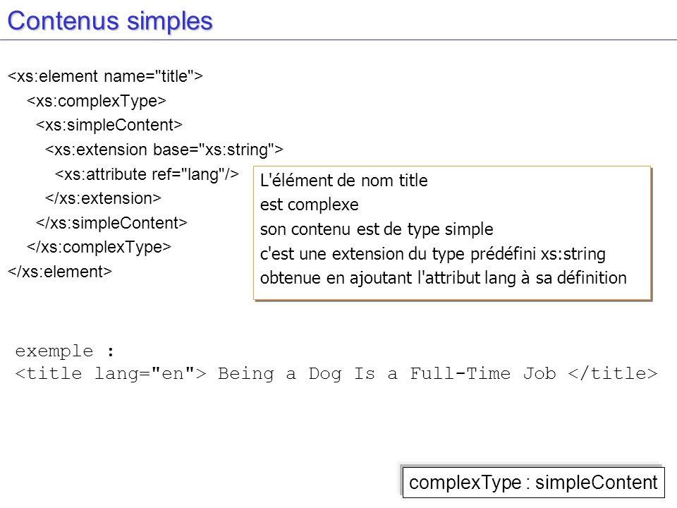 Contenus simples exemple :