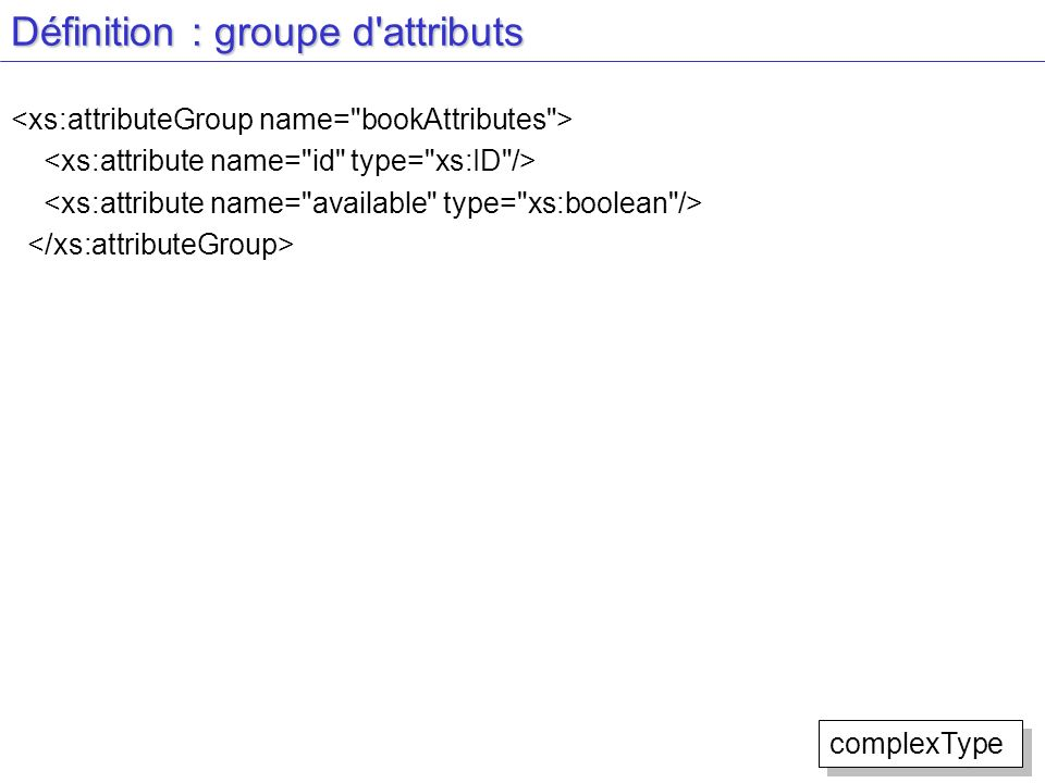 Définition : groupe d attributs
