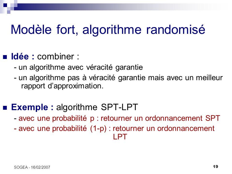 Modèle fort, algorithme randomisé