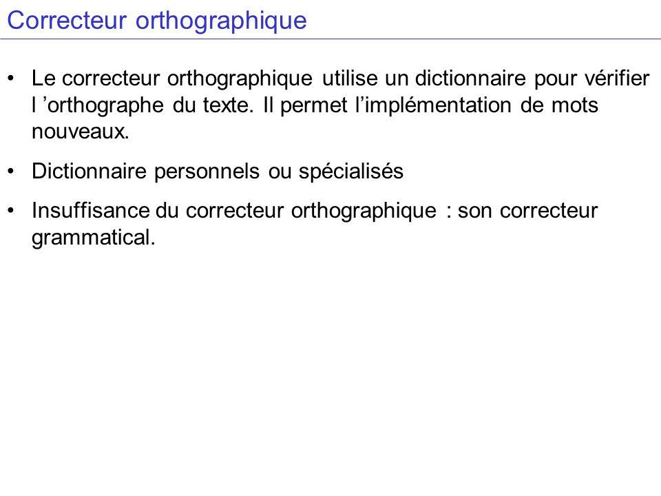 Correcteur orthographique