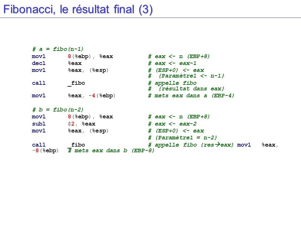 Fibonacci, le résultat final (3)