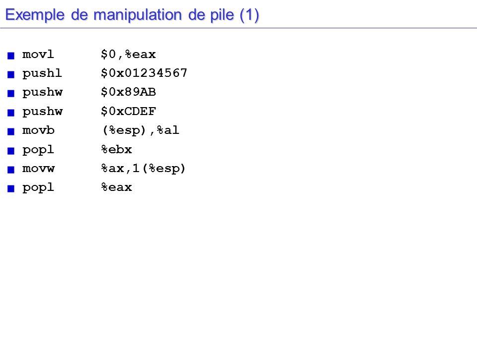 Exemple de manipulation de pile (1)
