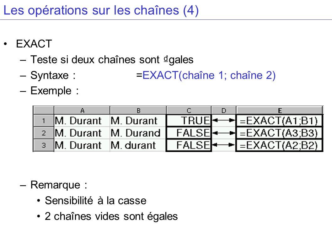 Les opérations sur les chaînes (4)