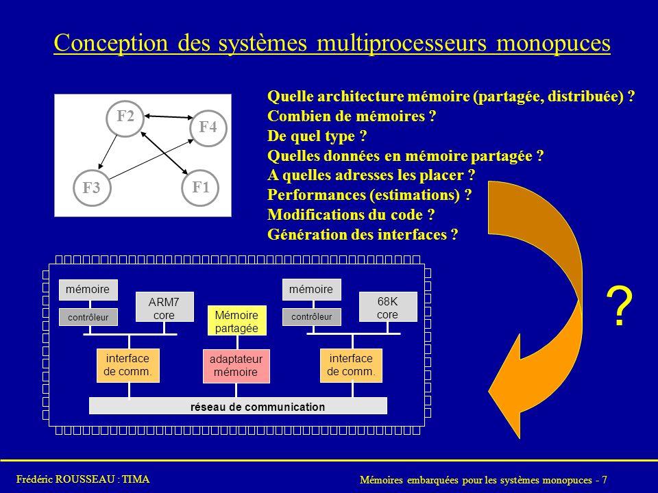 Conception des systèmes multiprocesseurs monopuces