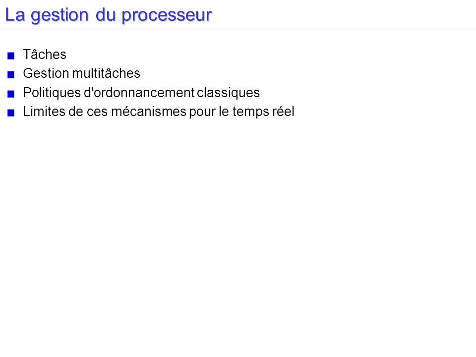 La gestion du processeur