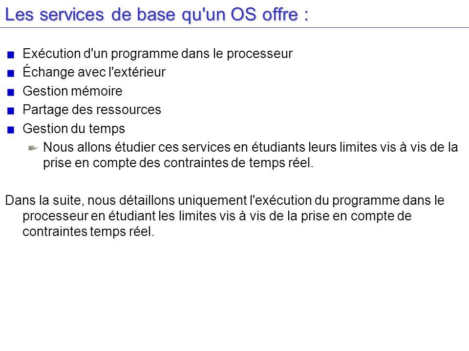 Les services de base qu un OS offre :