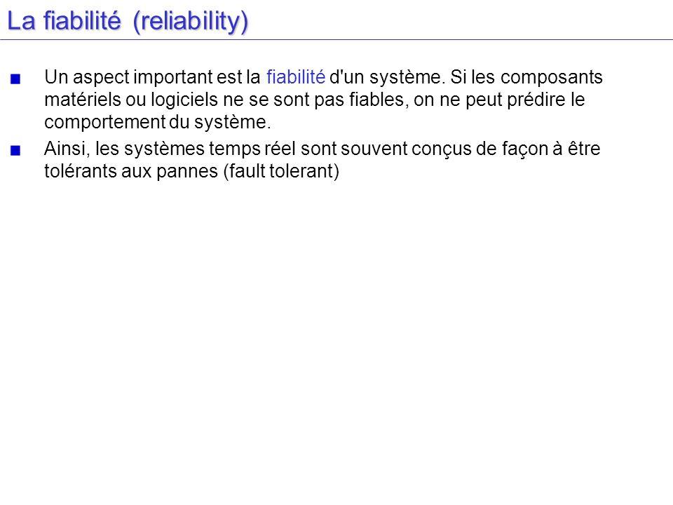 La fiabilité (reliability)