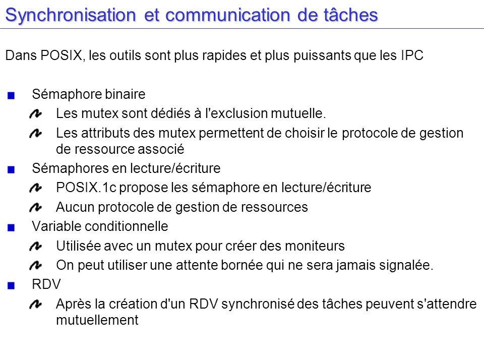 Synchronisation et communication de tâches