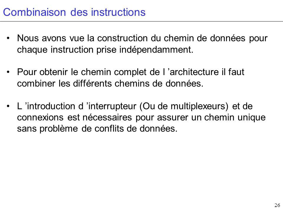 Combinaison des instructions