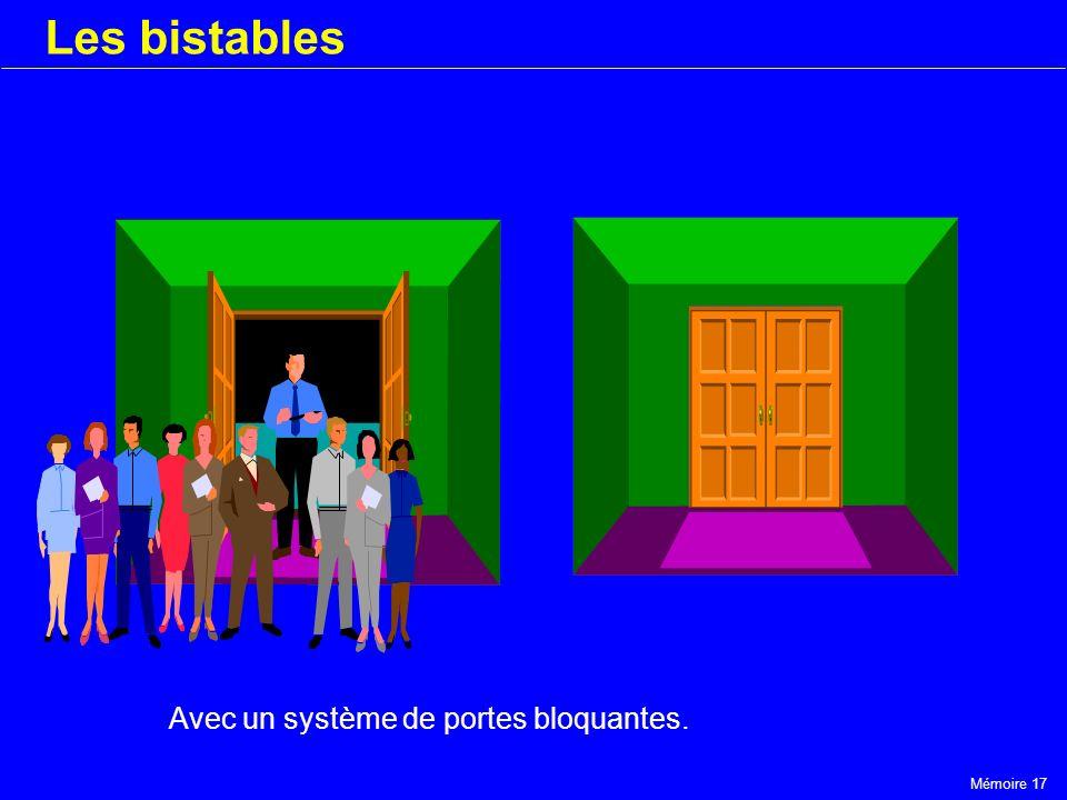 Les bistables Avec un système de portes bloquantes.